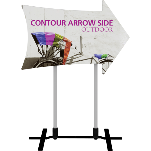 Contour Outdoor Sign Arrow Side - Plate Base