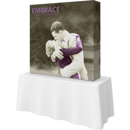 Embrace 5ft Square Tabletop Push-Fit Tension Fabric Display
